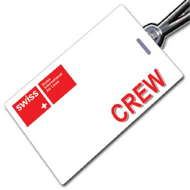 SWISS INTL AIR LINES (white) Crew Tag